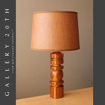 DELICIOUS! DANISH MODERN MID CENTURY CARVED WOOD LAMP! 50's Eames Wegner... - €834,10 EUR