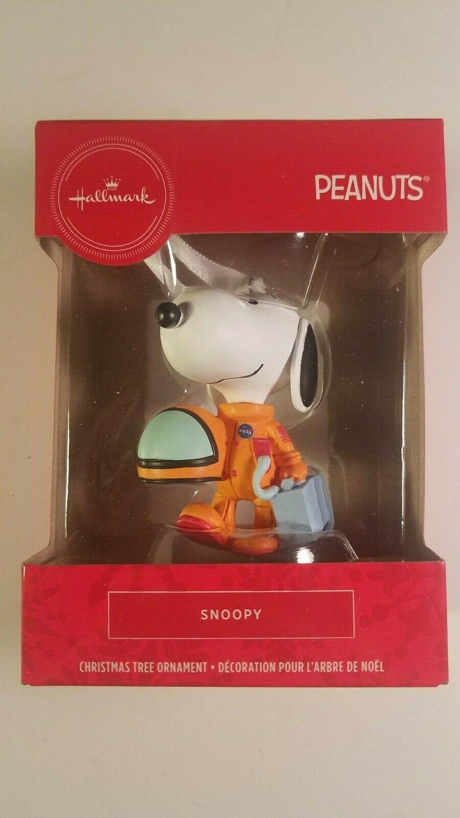 Primary image for hallmark ornament snoopy astronaut peanuts christmas tree decor new in box