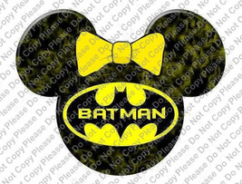 Batman Minnie Mouse Head Disney Iron On Transfer Instant Download You Pr... - $3.95
