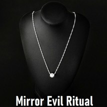 White Witch Mirror Evil Ritual Charm Talisman Reflect Bad Karama Draw Good Only - $28.61