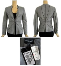 Giorgio Armani Silver Gray Metallic Evening Jacket Neiman Marcus 6 NWT $... - $695.00