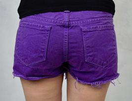 J Brand 7037 Bright Purple Cut Off Short Jeans 26 Womens USA image 5