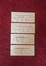 4 Mpls Brewing Co- First & Security National Bank Canceled Checks (1918/1922)