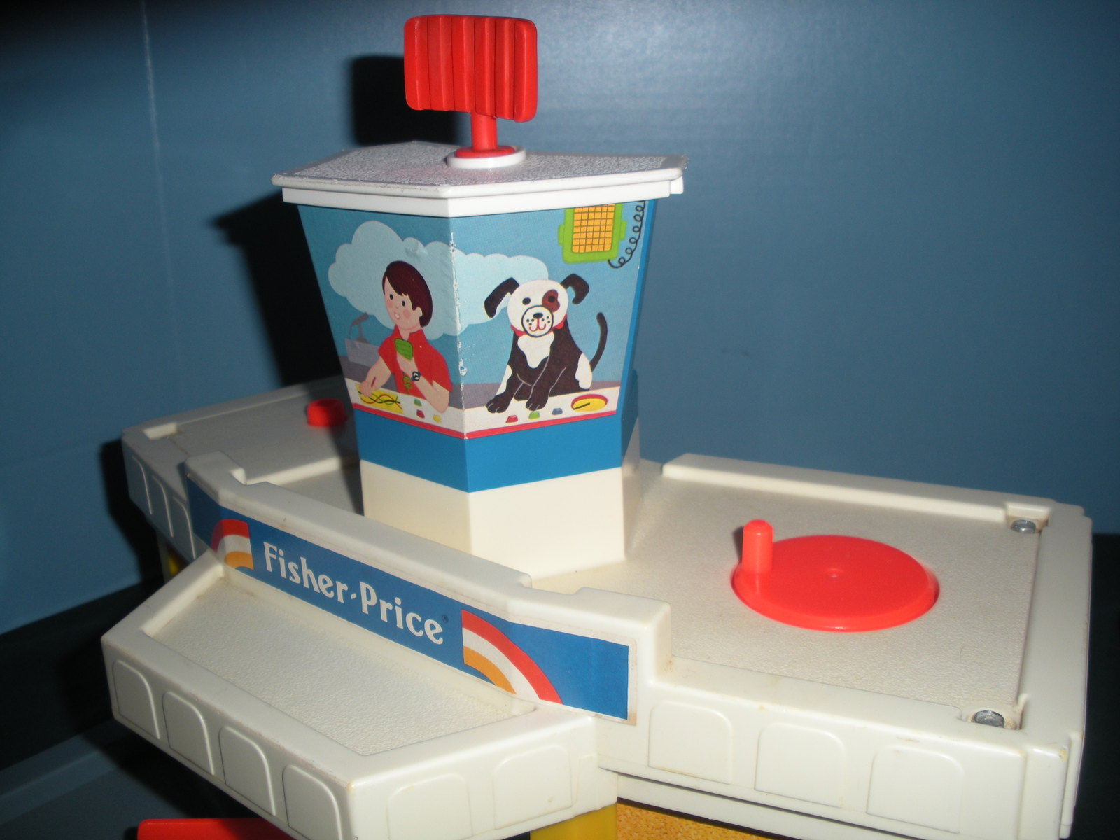 Vintage Fisher Price Play Family #933 Jetport Complete/VG+-VG++ (E) image 4