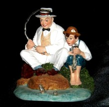 """""""Fishing"""" by Norman Rockwell Figurine AA19-1655 Vintage"""