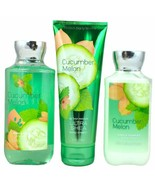 Bath & Body Works Signature Collection Cucumber Melon Gift Set Cream Gel... - $29.37