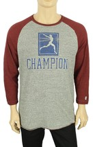 New Todd Snyder Champion Antique Grey Cotton 3/4 Sleeve Sportswear T Shirt L - $39.59