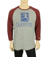 NEW TODD SNYDER CHAMPION ANTIQUE GREY COTTON 3/4 SLEEVE SPORTSWEAR T SHI... - $39.59