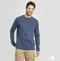 Goodfellow & Co™ Mens Standard Fit Long Sleeve Crew Neck T-Shirt Size Small NEW! image 4