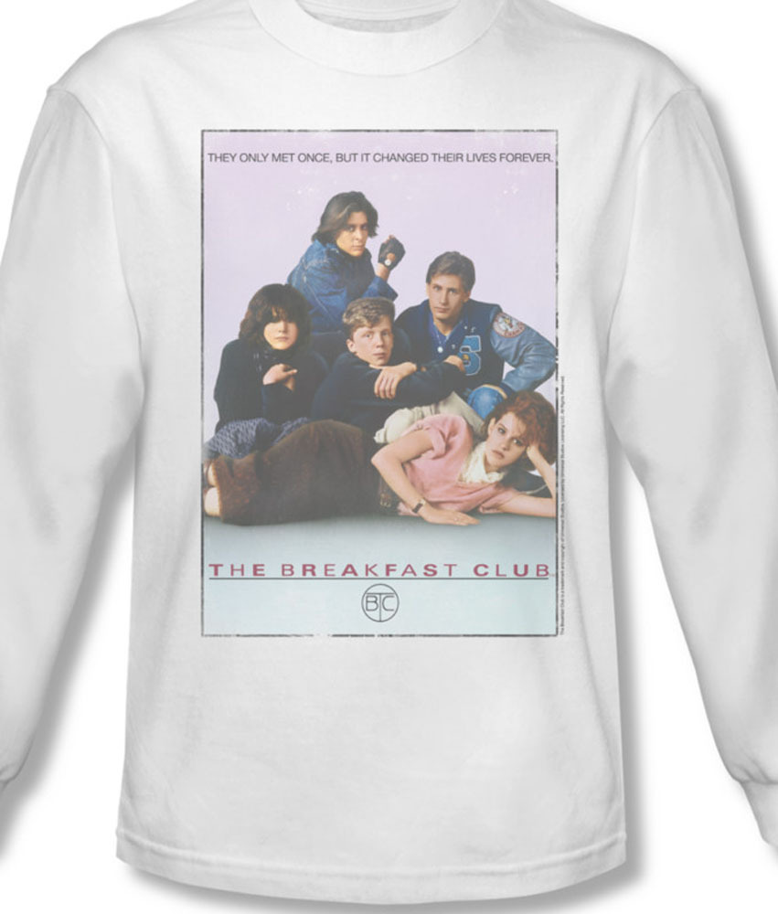 The breakfast club 80 s comedy long sleeve tee for sale online white graphic tee uni356 al