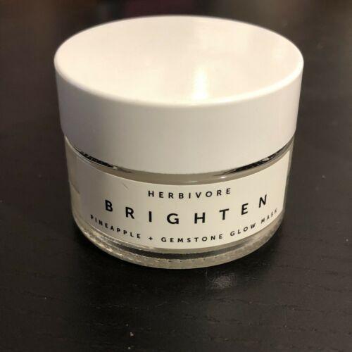 Herbivore BRIGHTEN Pineapple Enzyme And Gemstone Brightening Mask .5 oz