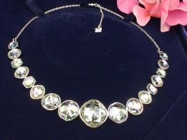 AUTHENTIC SWAN SIGNED SWAROVSKI MINERAL MOONLIGHT COLLAR NECKLACE 1054839 - $129.00