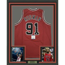 FRAMED Autographed/Signed DENNIS RODMAN 33x42 Chicago Red Jersey Beckett... - €357,99 EUR