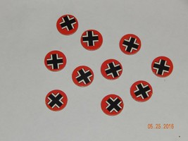 Axis & Allies 4423 Game 1984-87 Milton Bradley Germany 10 Pieces Markers - $6.38