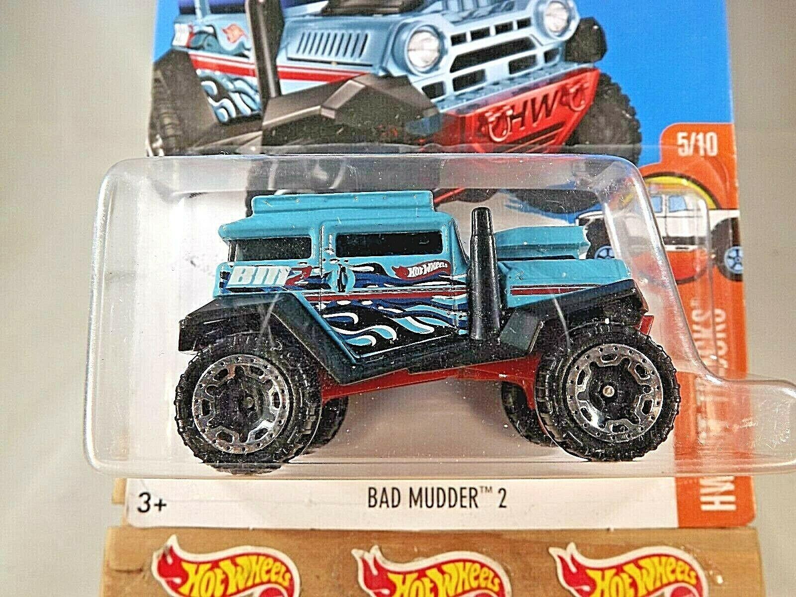 2016 Hot Wheels #145 HW Hot Trucks 5/10 BAD MUDDER 2 Aqua