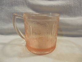Vintage Jeannette Glass Pink Depression Cherry Blossom 7 Oz Mug  - $209.95