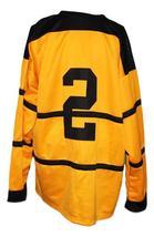 Custom Name # Pittsburgh Pirates Retro Hockey Jersey New Yellow Any Size image 2