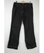 Daisy Fuentes Black Denim Rinse Petite Trouser Style Flare Leg Jeans - S... - $13.57