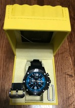 Invicta Men's Pro Diver Chrono 100m Stainless Steel/Black Silicone Watch  - $79.19