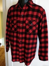 Vtg Men's Woolrich Classic Red Buffalo Plaid Wool Shirt Jacket Large 46 ... - $43.56