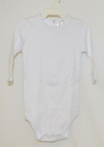 Blanks Boutique White Long Sleeve Bodysuit 6 To 9 Months Unisex