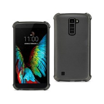 REIKO LG K10 MIRROR EFFECT CASE WITH AIR CUSHION PROTECTION IN CLEAR BLACK - $6.90