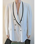 Vintage Men's Dinner Formal Jacket White Nite Magic After Six Double Bre... - $158.39