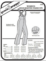 Women's High-Waisted Warm-Ups #103 Sewing Pattern (Pattern Only) - $6.00
