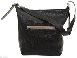 Coach Black Leather Pebbled Shoulder Bag Hobo D... - $173.25