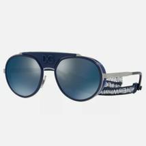 Dolce & Gabbana MADISON DG CUP DG 2210 04/96 Grey/ Dark Blue Mirror Sung... - $186.07