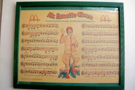 1974 McDonald's Tray Liner  Musics & Lyrics to McFavorite Clown -Ronald ... - $22.05