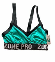 NWT  Zone Pro Sport bra Womens Size Medium turquoise black wire free  - $9.46