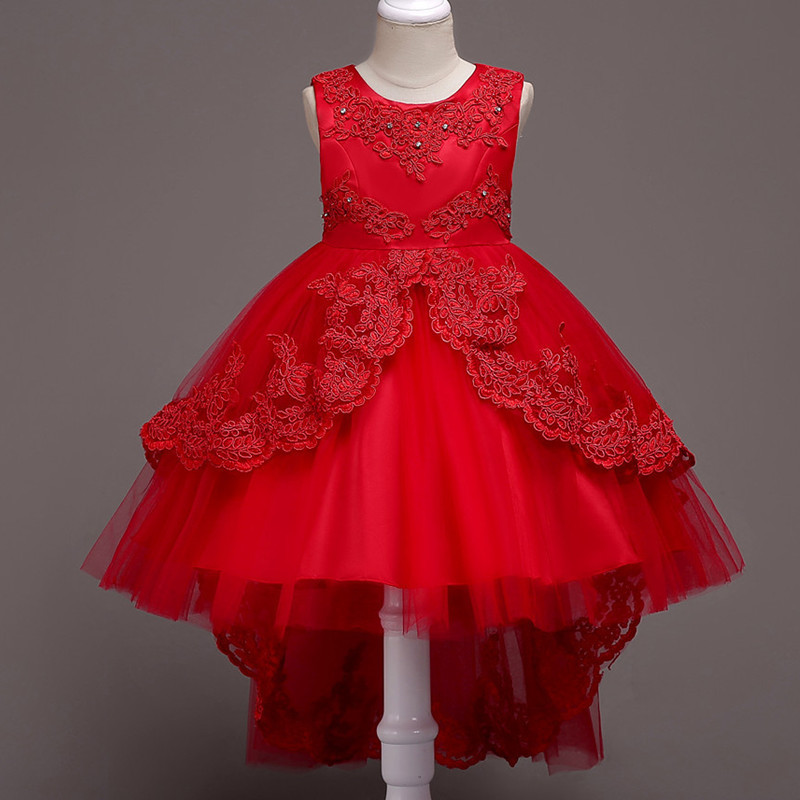 Primary image for  Formal Red Dress For Girls Flower Girl Pageant Birthday Party Princess Dress