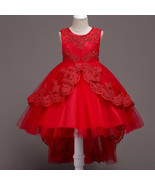 Formal Red Dress For Girls Flower Girl Pageant Birthday Party Princess ... - $59.99