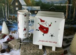STUDIO JCP HOME CHRISTMAS PLATES (4) & CYPRESS HOME STACKABLE CHRISTMAS ... - $84.95
