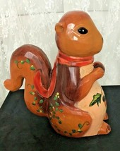 """Hand Carved and Hand Painted Wooden Squirrel 10.25"""" Tall Adorable! - $32.82"""