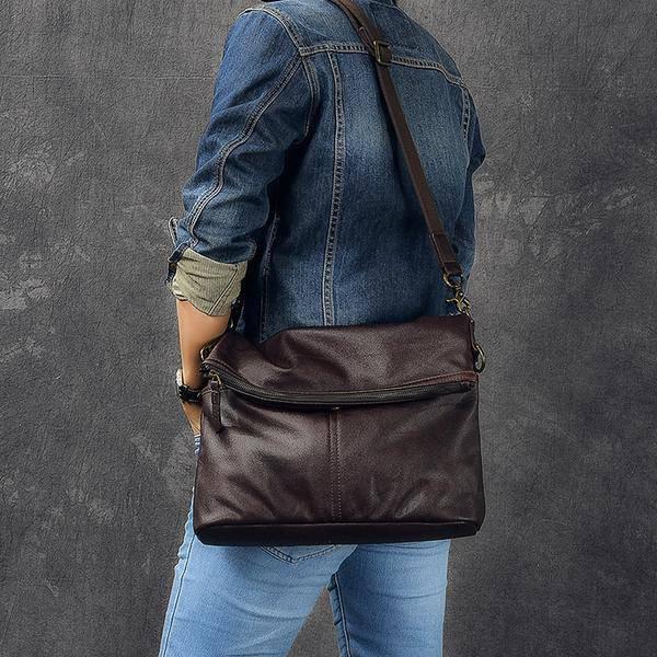 Sale, Full Grain Leather Men Shoulder Bag, Stylish Men Messenger Bag, Laptop Bag image 2