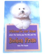 3D BICHON FRISE WELCOME SIGN STUNNING EYE CATCHING 23CM X 15CM DURABLE D... - $5.18
