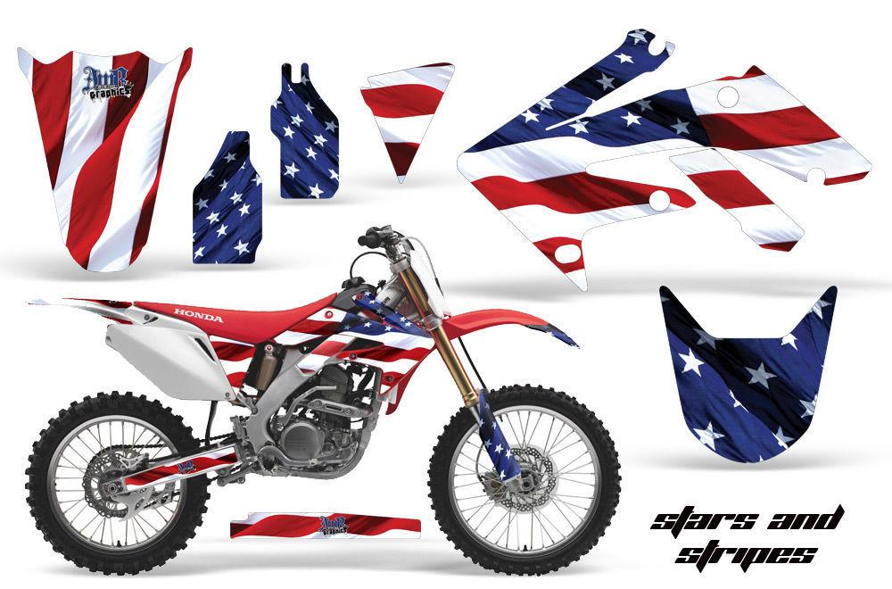Motocross American Flag Dirt Bike Decal Sticker