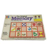 VINTAGE 1980 MEMORY ORIGINAL MATCHING CARD GAME IN BOX ALMOST COMPLETE 7... - $51.43