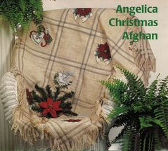 Cross Stitch Xmas Angelica Poinsettia Afghan Stocking Santa Tree Skirt P... - $8.99