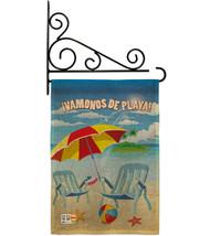 Vamonos de Playa Burlap - Impressions Decorative Metal Fansy Wall Bracke... - $33.97