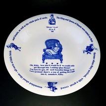 The Macmillan Alice In Wonderland Porcelain Bowl Maebata Japan Blue White - $39.99