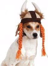 Halloween Costume Viking Hat Braids Pet Small Medium Boutique Dog Cloth ... - ₹1,062.73 INR
