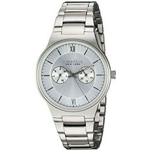 Caravelle 43A134 Quartz Men's Silver Steel Band With White Analog Dial W... - $37.36
