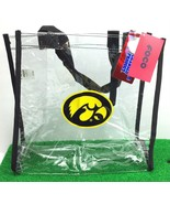 Iowa Hawkeyes NCAA / Clear Tote Bag / Carry-All Lunch Bag / Stadium Even... - $22.49