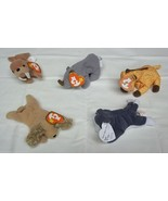 Ty Teenie Beanie Babies Lot of 5 Spunky Twigs Spike Tusk 'Nook - $11.52