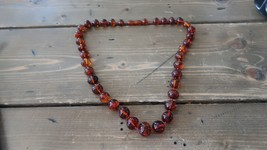 Vintage Natural Baltic Amber Graduated Bead Necklace 22 inches - $1,385.99
