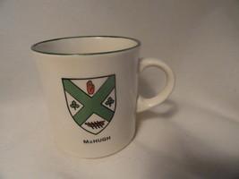 Coffee Tea Mug Irish McHugh Shamrocks Stoneware - $9.99