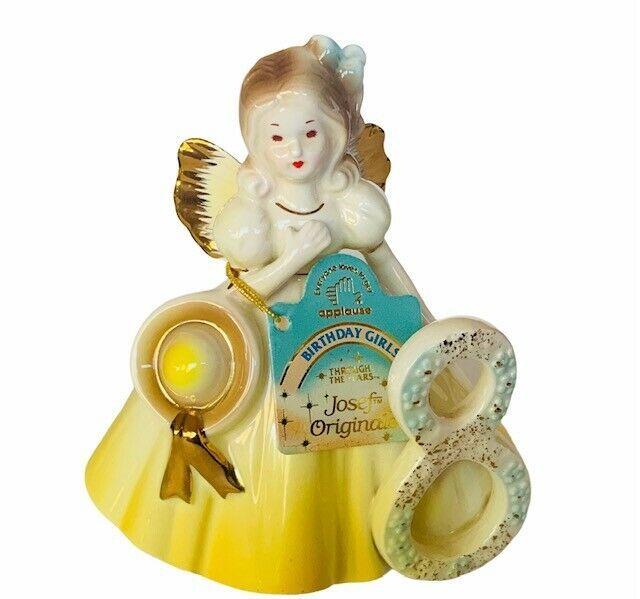 Josef Original figurine 8 Birthday Girls Eight Applause Through years gift decor - $39.55